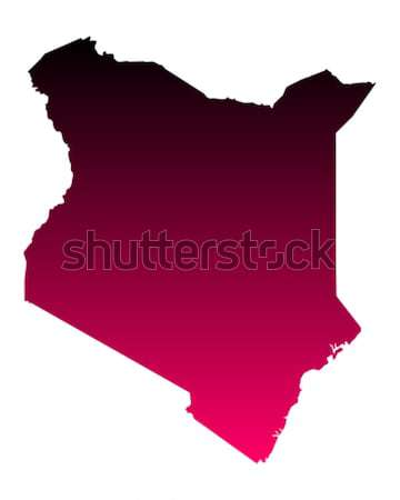 Stock fotó: Térkép · Kenya · utazás · rózsaszín · lila · vektor
