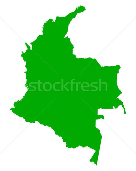 Kaart Colombia achtergrond lijn vector Stockfoto © rbiedermann