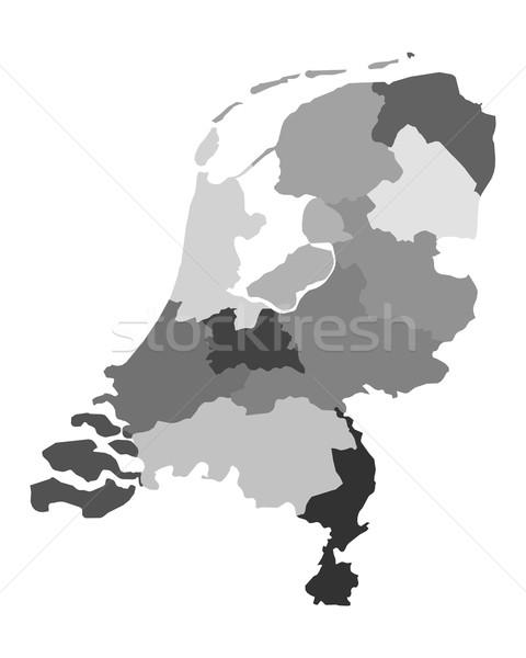 Karte Niederlande Hintergrund line holland Grenze Stock foto © rbiedermann
