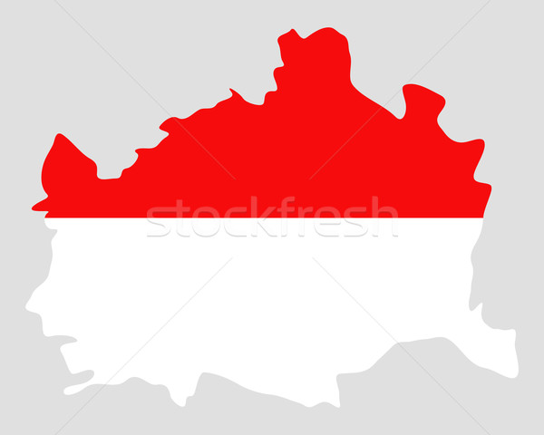 Map and flag of Vienna Stock photo © rbiedermann