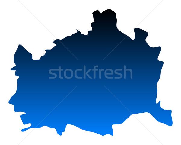 карта Вена синий вектора изолированный иллюстрация Сток-фото © rbiedermann