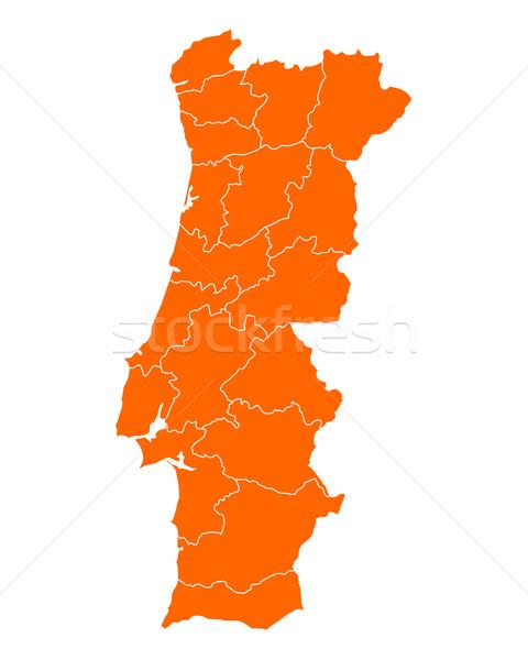 地図 ポルトガル 旅行 孤立した 実例 地理 ストックフォト © rbiedermann