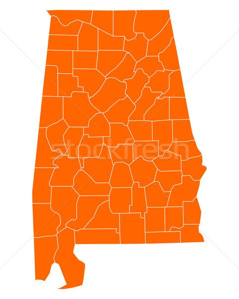 Harita Alabama seyahat ABD yalıtılmış örnek Stok fotoğraf © rbiedermann