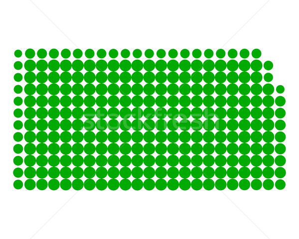 Térkép Kansas zöld minta Amerika kör Stock fotó © rbiedermann