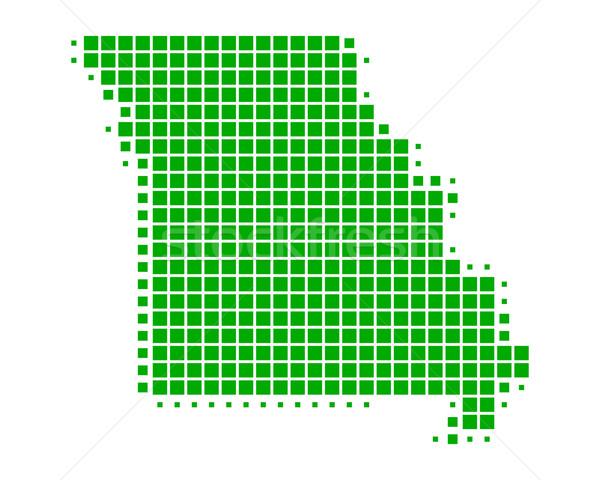 Mapa Misuri verde patrón América cuadrados Foto stock © rbiedermann