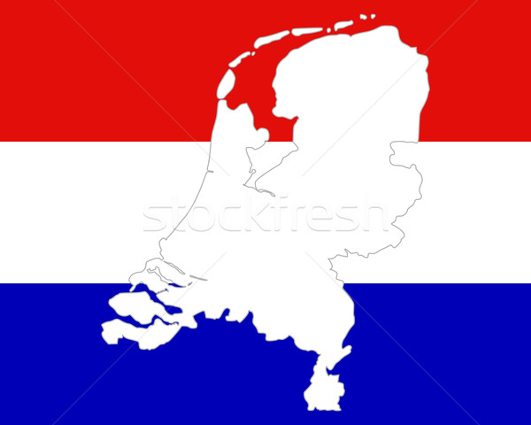 Map and flag of the Netherlands vector illustration Robert
