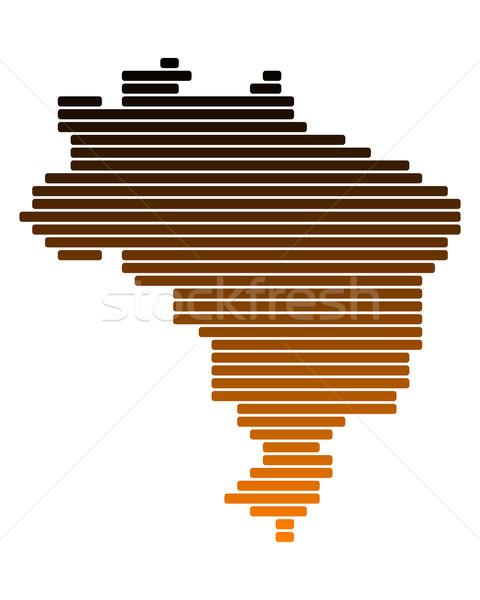 Pokaż Brazylia line linie punkt wektora Zdjęcia stock © rbiedermann