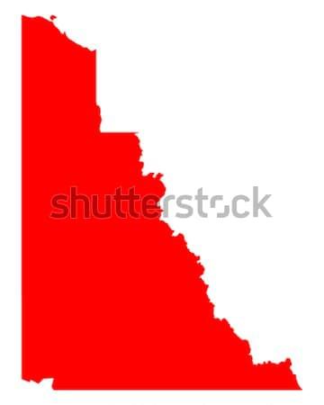 Mapa Idaho viajar vermelho américa EUA Foto stock © rbiedermann
