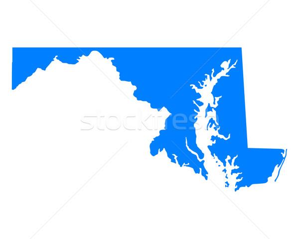 карта Мэриленд синий путешествия Америки США Сток-фото © rbiedermann