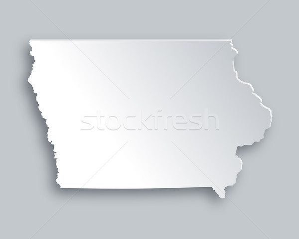Harita Iowa kâğıt arka plan seyahat kart Stok fotoğraf © rbiedermann
