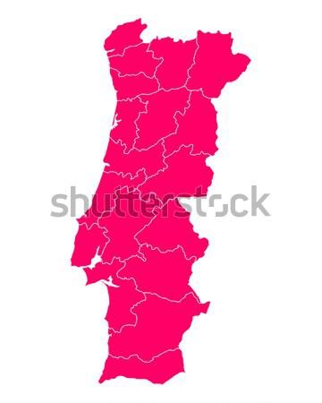 Mapa Portugal viajar roxo isolado ilustração Foto stock © rbiedermann