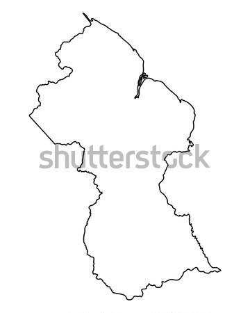 карта Швеция изолированный иллюстрация Сток-фото © rbiedermann