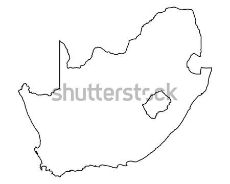 Foto stock: Mapa · África · do · Sul · fundo · África · isolado · ilustração