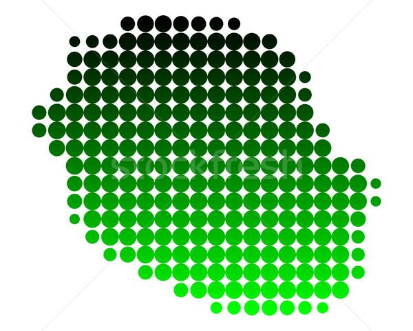 地図 ラ 再会 緑 島 パターン ストックフォト © rbiedermann