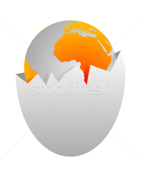 World in egg shell Stock photo © rbiedermann