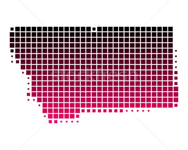 карта Монтана шаблон розовый Америки Purple Сток-фото © rbiedermann