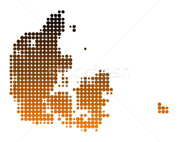 Kaart Denemarken patroon cirkel punt vector Stockfoto © rbiedermann