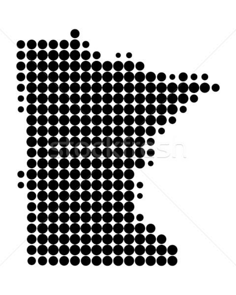 Térkép Minnesota fekete minta Amerika kör Stock fotó © rbiedermann