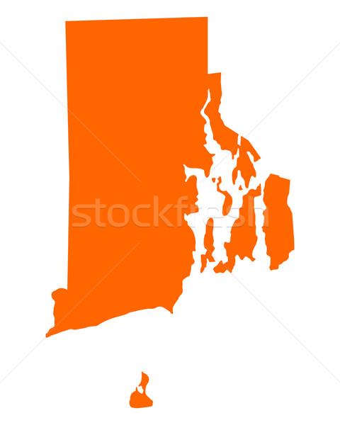 Mapa Rhode Island viajar américa EUA isolado Foto stock © rbiedermann