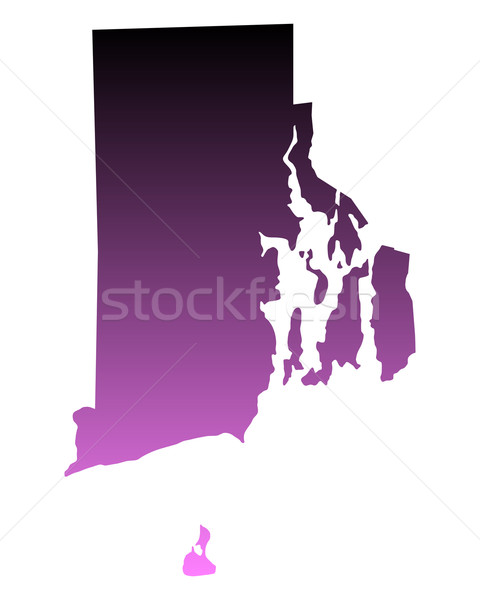 Mapa Rhode Island viajar rosa américa EUA Foto stock © rbiedermann