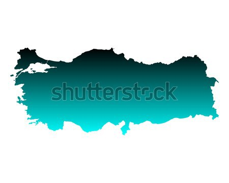 Mapa Letonia verde azul viaje vector Foto stock © rbiedermann