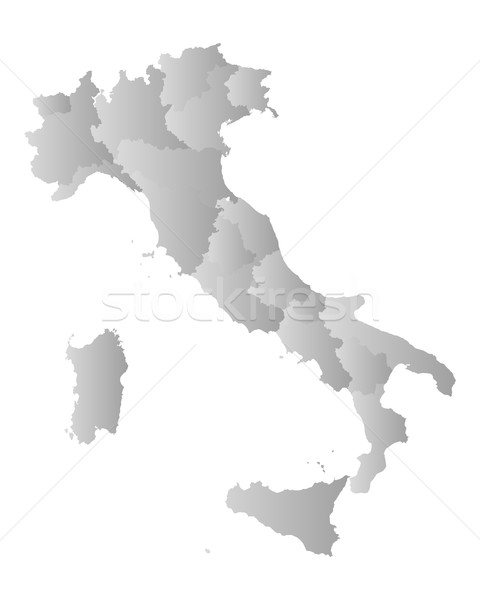 Map of Italy Stock photo © rbiedermann