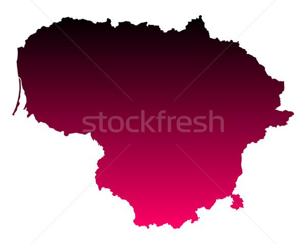Kaart Litouwen roze paars vector geïsoleerd Stockfoto © rbiedermann