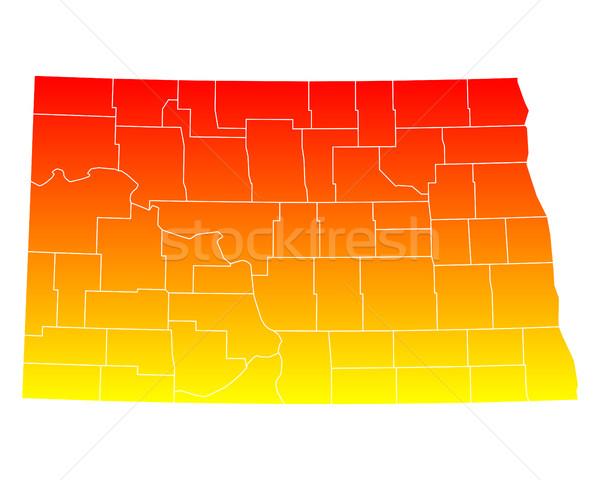 Harita kuzey Amerika Birleşik Devletleri vektör yalıtılmış örnek Stok fotoğraf © rbiedermann