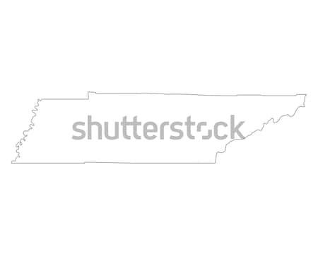 Carte Tennessee USA vecteur isolé illustration Photo stock © rbiedermann