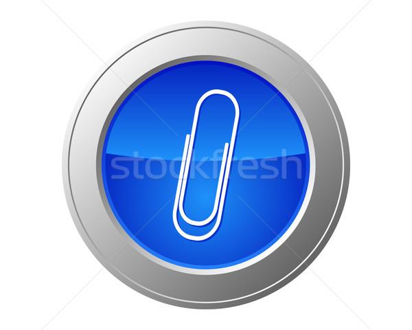 Spinacz przycisk Internetu internetowych nowoczesne klip Zdjęcia stock © rbiedermann