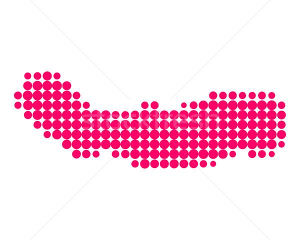 ストックフォト: 地図 · 島 · パターン · 紫色 · サークル · ポイント