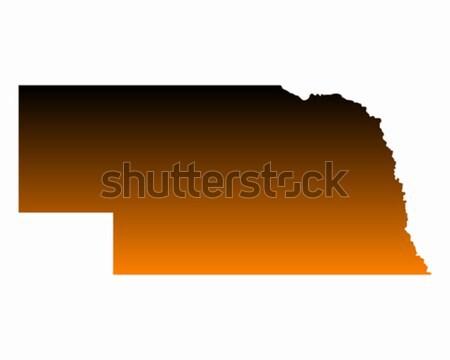Mapa Nebraska viajar américa EUA isolado Foto stock © rbiedermann