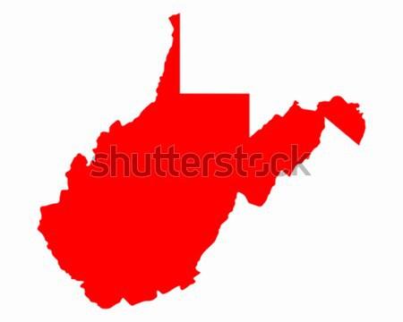 Photo stock: Carte · Virginie-Occidentale · Voyage · rouge · Amérique · USA