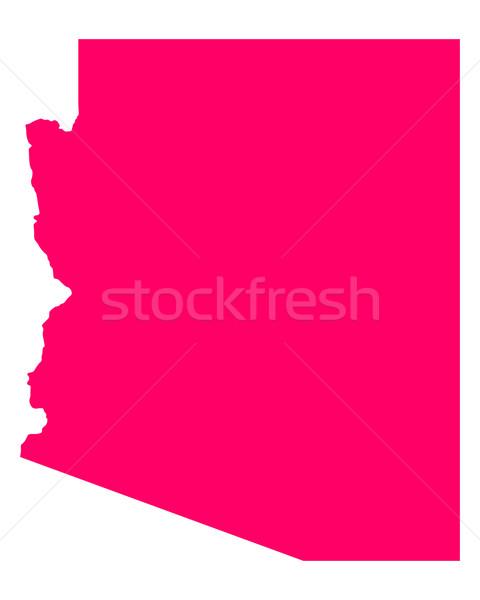 Kaart Arizona reizen amerika paars geïsoleerd Stockfoto © rbiedermann