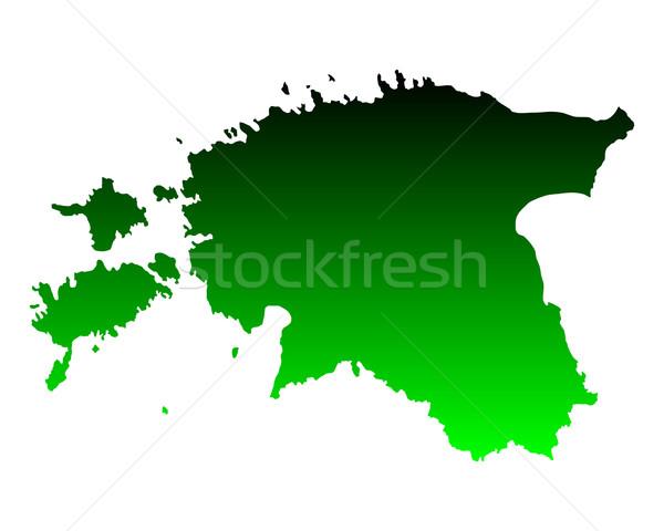 карта Эстония зеленый путешествия вектора Сток-фото © rbiedermann