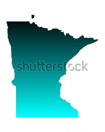 Mapa Minnesota fundo linha américa EUA Foto stock © rbiedermann
