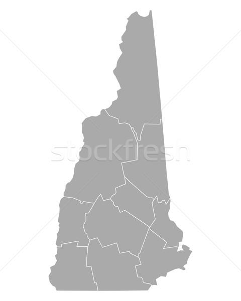 Mappa New Hampshire sfondo line USA vettore Foto d'archivio © rbiedermann