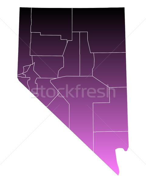 Stock fotó: Térkép · rózsaszín · USA · vektor · izolált · illusztráció