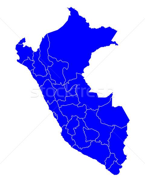 Térkép kék vektor izolált illusztráció földrajz Stock fotó © rbiedermann