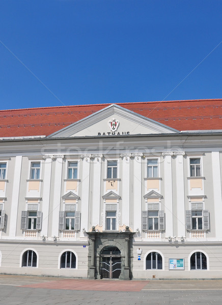Nieuwe stadhuis Oostenrijk reizen architectuur stad Stockfoto © rbiedermann