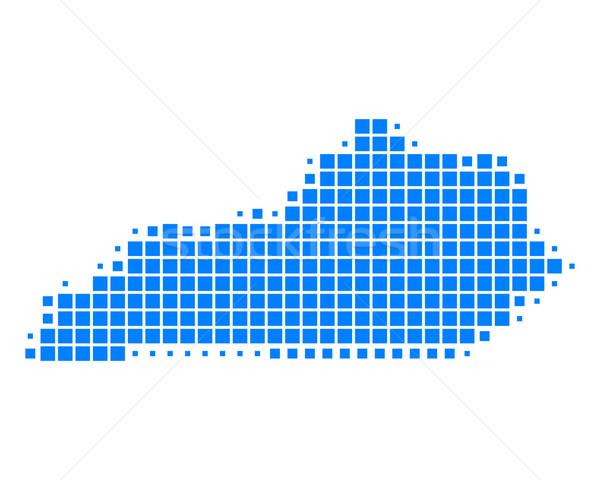 Stockfoto: Kaart · Kentucky · Blauw · patroon · amerika · USA