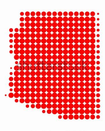Harita Alabama kırmızı model Amerika daire Stok fotoğraf © rbiedermann