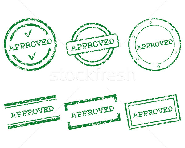 Approved stamp Stock photo © rbiedermann