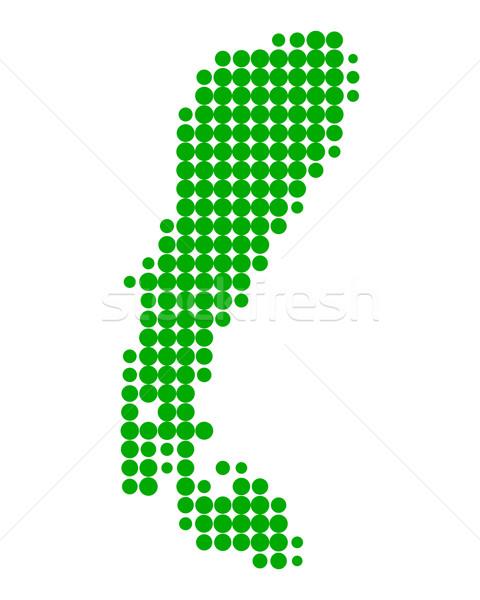 Térkép tó zöld minta lát kör Stock fotó © rbiedermann