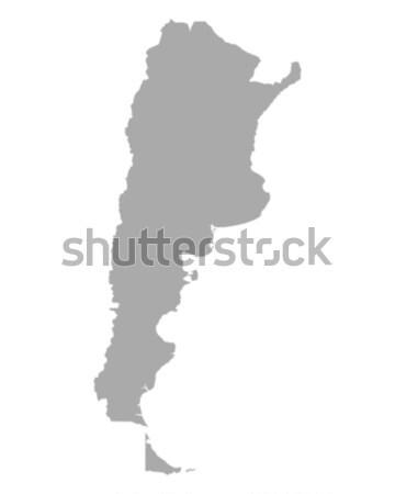 карта Аргентина вектора изолированный иллюстрация серый Сток-фото © rbiedermann