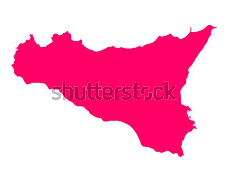 Mapa sicília viajar ilha roxo isolado Foto stock © rbiedermann