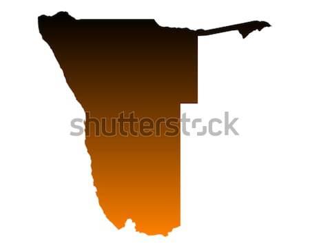 карта Намибия фон линия вектора Сток-фото © rbiedermann