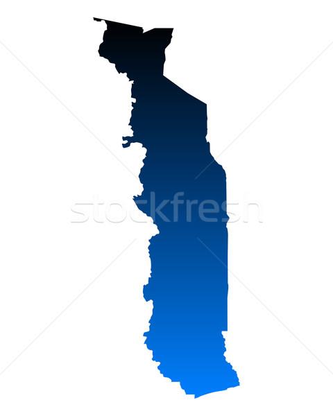 Mappa Togo blu vettore isolato Foto d'archivio © rbiedermann