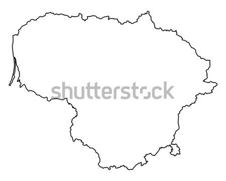 карта Литва фон изолированный иллюстрация Сток-фото © rbiedermann