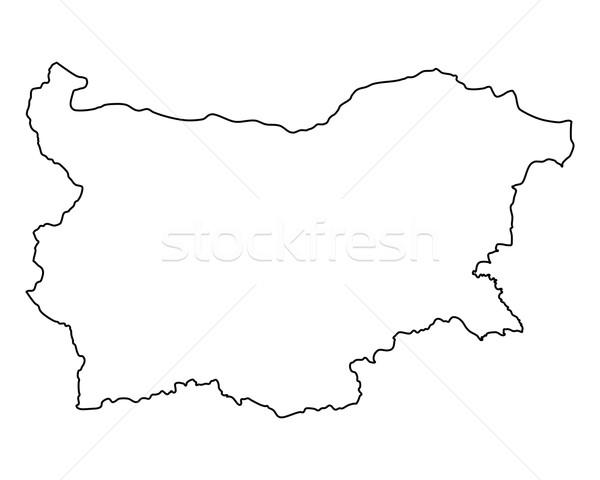 Kaart Bulgarije achtergrond geïsoleerd illustratie Stockfoto © rbiedermann